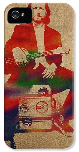 Pearl Jam iPhone 5 Case - Eddie Vedder Pearl Jam Watercolor Portrait by Design Turnpike