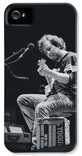Eddie Vedder Playing Live IPhone 5 Case by Marco Oliveira