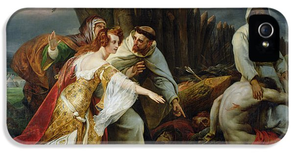 Edith Finding The Body Of Harold IPhone 5 / 5s Case by Emile Jean Horace Vernet