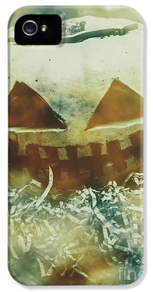 Eerie Ghoulish Halloween Pumpkin Head IPhone 5 Case