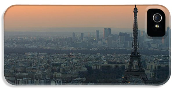 Eiffel Tower At Dusk IPhone 5 Case by Sebastian Musial
