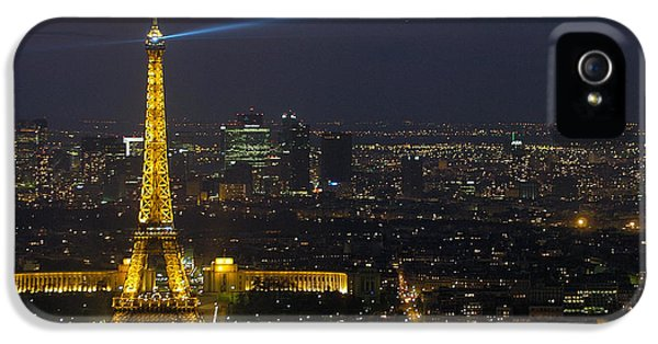 Eiffel Tower At Night IPhone 5 Case by Sebastian Musial