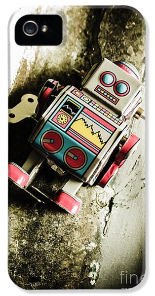 Eighties Cybernetic Droid  IPhone 5 Case by Jorgo Photography - Wall Art Gallery