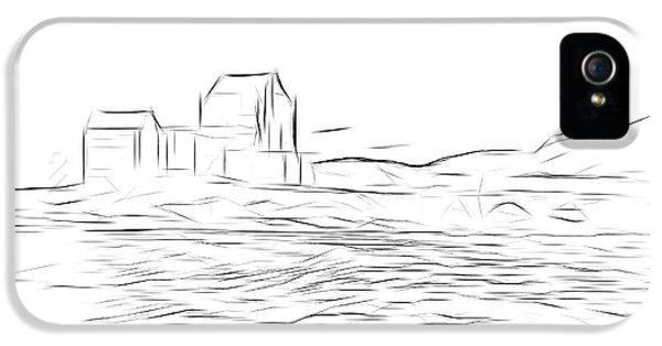 Castle iPhone 5 Case - Eilean Donan Castle Digital Art by Smart Aviation
