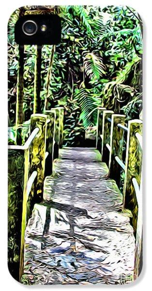 Breathe iPhone 5 Case - El Yunque Bridge by Carey Chen