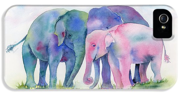 Elephant Hug IPhone 5 Case by Amy Kirkpatrick