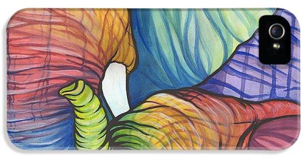 Elephant Hug IPhone 5 Case by Sarah Jane