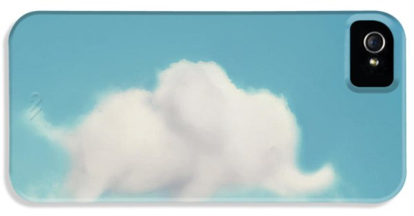Elephant In The Sky IPhone 5 Case by Amy Tyler