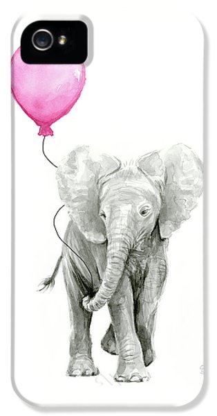 Baby Elephant Watercolor  IPhone 5 Case
