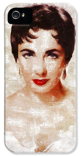 Elizabeth Taylor iPhone 5 Case - Elizabeth Taylor By Mary Bassett by Mary Bassett