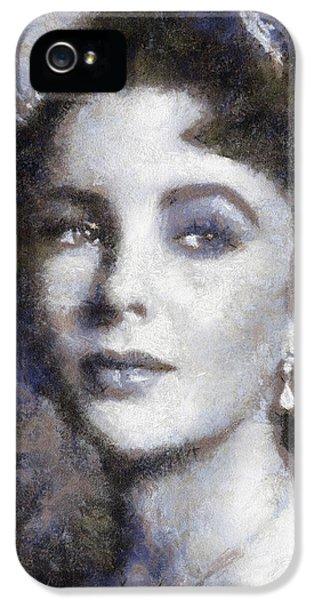 Elizabeth Taylor iPhone 5 Case - Elizabeth Taylor By Sarah Kirk by Sarah Kirk