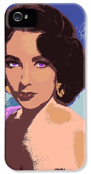 Elizabeth Taylor IPhone 5 Case by John Keaton