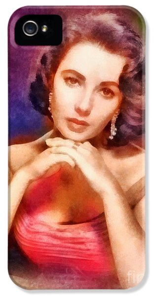 Elizabeth Taylor, Vintage Hollywood Legend IPhone 5 Case by Frank Falcon