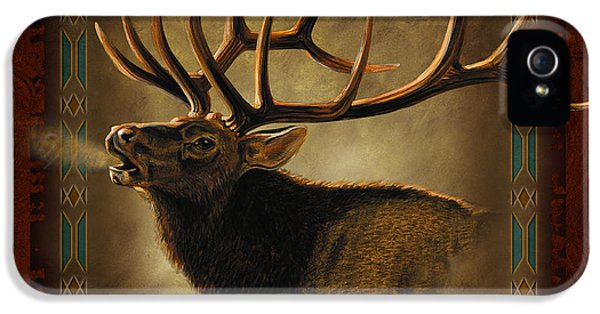 Land iPhone 5 Cases - Elk Lodge iPhone 5 Case by JQ Licensing
