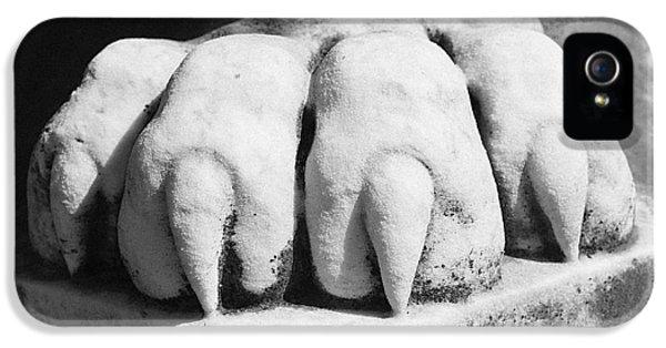 Elmwood Cemetery - Lions Paw IPhone 5 Case by Jon Woodhams