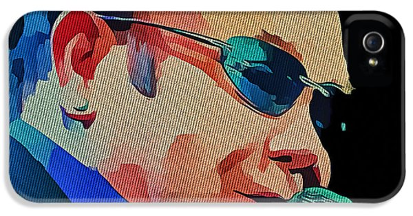 Elton John iPhone 5 Case - Elton John Blue Eyes Portrait 2 by Yury Malkov