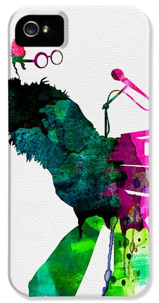 Elton John iPhone 5 Case - Elton Watercolor by Naxart Studio