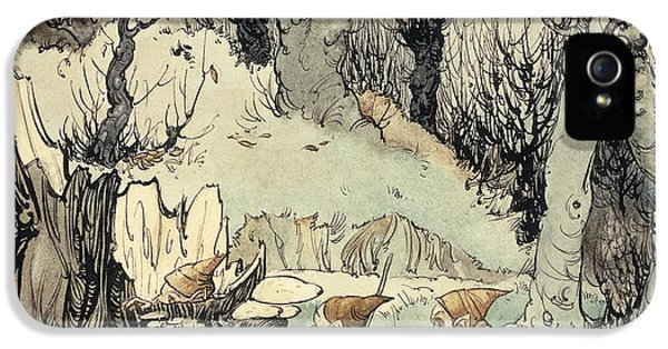 Elves In A Wood IPhone 5 Case by Arthur Rackham