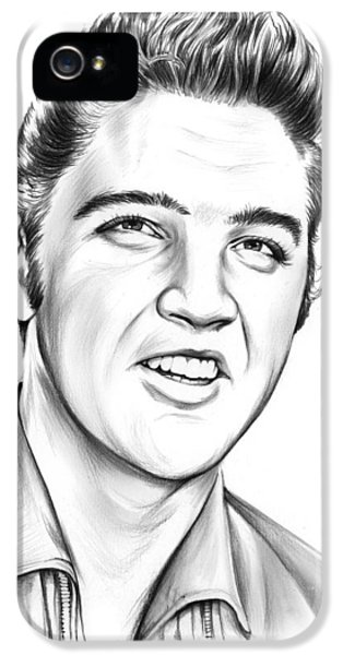 Rock And Roll iPhone 5 Case - Elvis by Greg Joens