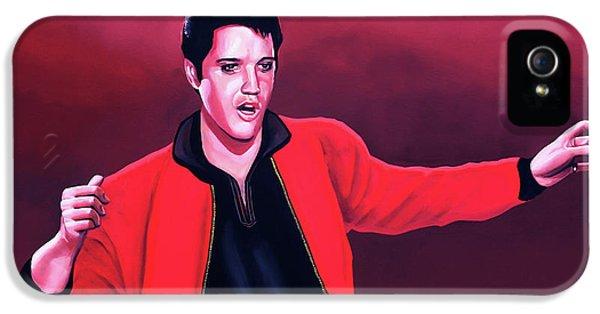 Elvis Presley 4 Painting IPhone 5 / 5s Case by Paul Meijering
