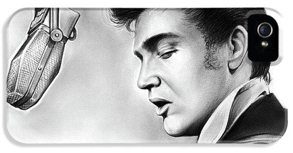 Rock And Roll iPhone 5 Case - Elvis Presley by Greg Joens