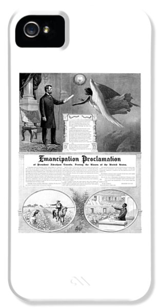 Emancipation Proclamation IPhone 5 Case by War Is Hell Store