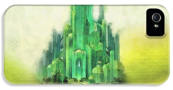Wizard iPhone 5 Case - Emerald City by Mo T