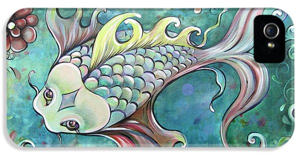 Koi iPhone 5 Case - Emerald Koi by Shadia Derbyshire