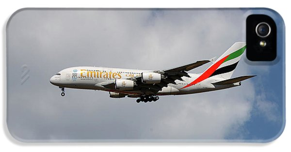 Jet iPhone 5 Case - Emirates Airbus A380-861 5 by Smart Aviation