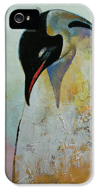 Emperor Penguin IPhone 5 Case by Michael Creese