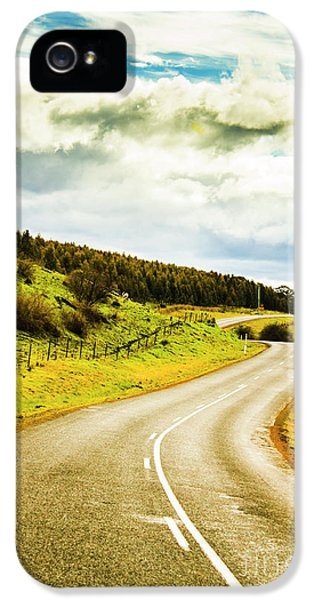 Empty Asphalt Road In Countryside IPhone 5 Case