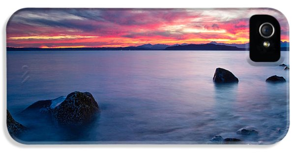 End Of Day At Alki Beach IPhone 5 Case by Dan Mihai