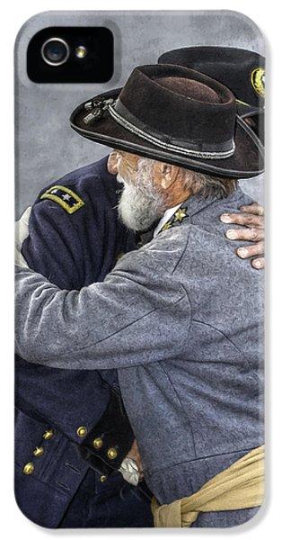 Gettysburg iPhone 5 Case - Enemies No Longer Civil War Grant And Lee by Randy Steele