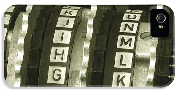 Enigma Cipher Machine IPhone 5 Case by English School