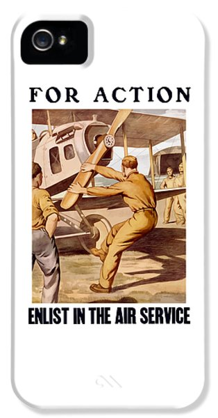 Airplane iPhone 5 Case - Enlist In The Air Service by War Is Hell Store