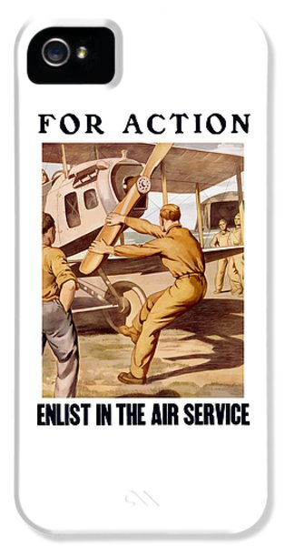 Enlist In The Air Service IPhone 5 Case by War Is Hell Store