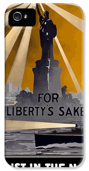 Enlist In The Navy - For Liberty's Sake IPhone 5 / 5s Case by War Is Hell Store