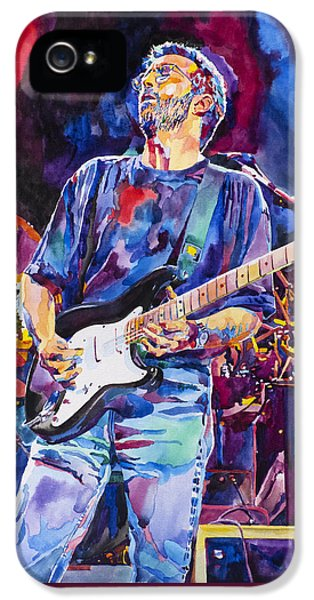 Eric Clapton iPhone 5 Case - Eric Clapton And Blackie by David Lloyd Glover