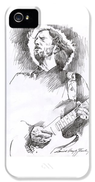 Eric Clapton iPhone 5 Case - Eric Clapton Sustains by David Lloyd Glover
