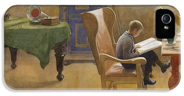 Esbjorn At The Study Corner IPhone 5 Case by Carl Larsson