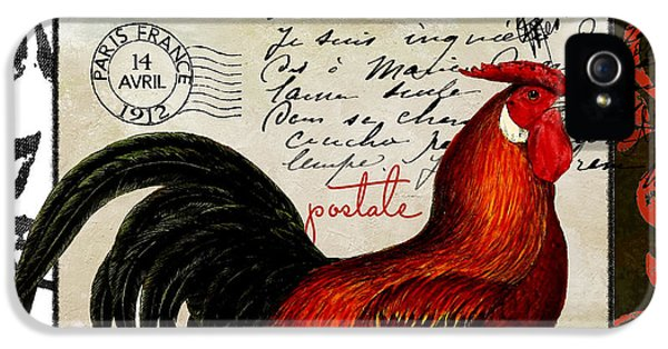 Rooster iPhone 5 Case - Europa Rooster II by Mindy Sommers