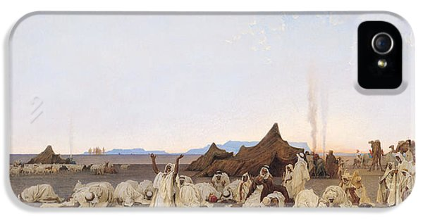 Evening Prayer In The Sahara IPhone 5 Case by Gustave Guillaumet