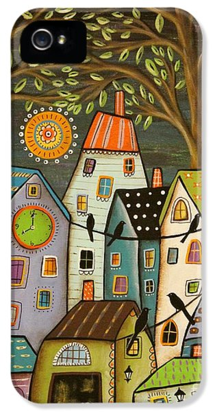 Clock iPhone 5 Case - Evening Song by Karla Gerard