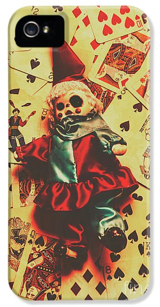 Evil Clown Doll On Playing Cards IPhone 5 Case