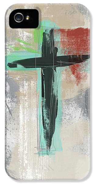 Cross iPhone 5 Case - Expressionist Cross 3- Art By Linda Woods by Linda Woods