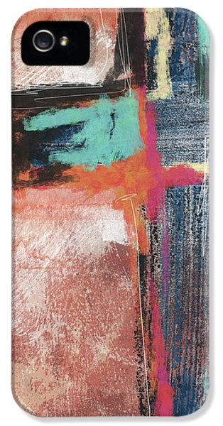 Cross iPhone 5 Case - Expressionist Cross 5- Art By Linda Woods by Linda Woods