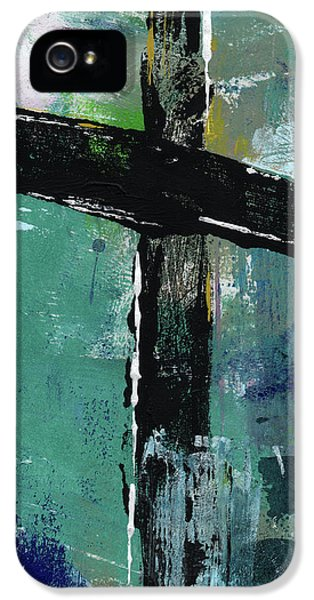 Cross iPhone 5 Case - Expressionist Cross 8- Art By Linda Woods by Linda Woods