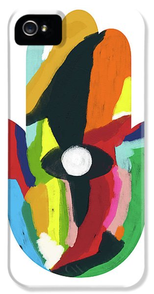 Expressionist Hamsa- Art By Linda Woods IPhone 5 Case by Linda Woods