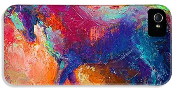 Expressive Stallion Painting By IPhone 5 Case