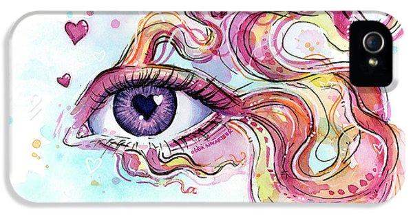 Eye Fish Surreal Betta IPhone 5 Case by Olga Shvartsur